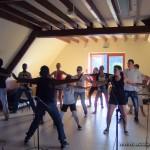 Les douze stagiaires et Teenagers à Arnac. Les jeunes du Cantal étaient très motivés : ce fut un véritable succès !