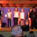 Stage à Arnac : de gauche à droite : Jean-Luc, Myriam, Camille (cachée), Chloé, Éloïse, Adrienne et Alexandre