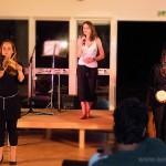 Myriam (wood block), Milène et Adrienne à Jonzac le 9 août