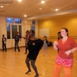 Avec Frédérique, notre nouvelle prof. de danse (à droite, au premier plan)