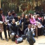 Au musée du Louvre, devant le sacre de Napoléon... mais il n'y a pas d'empereur chez les Teeangers !
