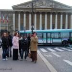 Devant l'Assemblée Nationale, avec Dominique Palluauld (Mission Ville Sarcelles) et Nadine Delarue (Directrice de la MJC de Sarcelles)
