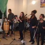 Premier spectacle du tour d'Adrienne à la M.J.C: Grace, Alexandre, Myriam, Adrienne, Olivia et Jean-Luc