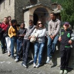 Toute l'équipe à Pontechianale (étape Ceillac)