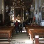Dans l'église de Pontechianale (étape Ceillac)
