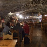 Pontechianale (Italie) : on vient à chaque fois (lors de notre passage à Ceillac) dans ce magnifique petit restaurant souterrain prendre un café ou autre boisson chaude !