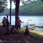 Le lac à la Gineste (Arnac) : moment de détente, pendant le stage