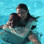 Tuintim et Milène, à la piscine du VVF de St Léger les Mélèzes