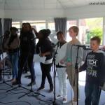 Grace, Adrienne, (Alexandre), Bénédicte, Évidaly, Rodya, et 2 des stagiaires les plus performants : Flavie et Noé