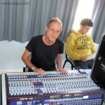 Obernai : Michel... au pupitre de mixage (et Arthur).