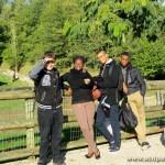 Arthur, Adrienne, Alexandre, Tuintim et Jean-Luc, au Zoo de Beauval