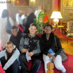 """Les """"Teenager"""" dans le salon doré du Château de Cheverny"""
