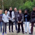 Anne, Denis, Alexandre, Arthur, Cédric, Adrienne et Tuintim