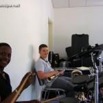 Cheik, notre nouveau batteur sarcellois, et Arthur, le multi-instrumentiste