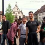 Visite à Obernai : Cédric, Cheik, Arthur, Alexandre et Adrienne