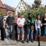 Les sarcellois au complet, à Obernai :Alexandre, Cédric, Cheik, Arthur, Adrienne, Odile et Clémence