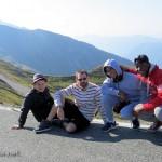 Arthur, François, Alexandre et Yves au Col d'Aniel