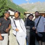 Pontechianale (Italie) : Yves, Alexandre, Arthur et François