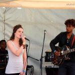 Grace (à la batterie), Milène et Alexandre, sur le stand du P.C. du Val d'Oise