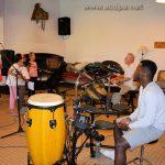 Ahmed, Grace à la batterie lors de répétition à St Léger, le 17 Juillet