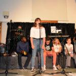 18 juillet 2019, le spectacle à St Bonnet : Marianne en soliste chante «Les Mousses»